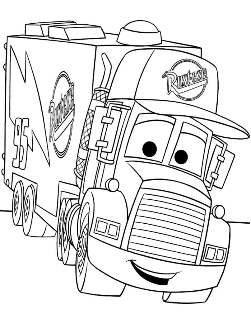 Ciężarówka z filmu Auta kolorowanka