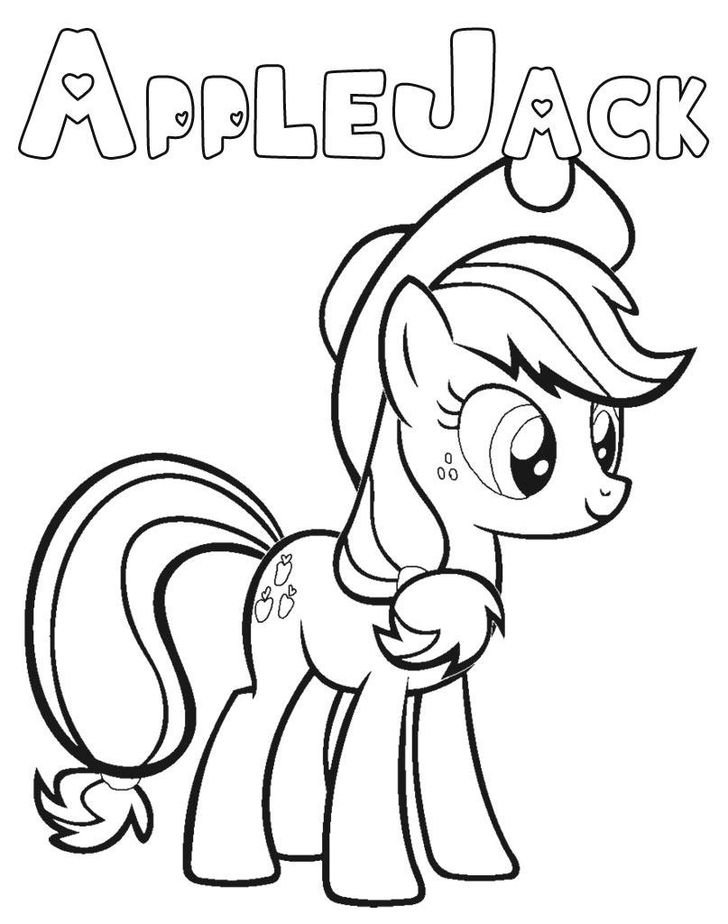 Darmowa kolorowanka AppleJack do wydruku