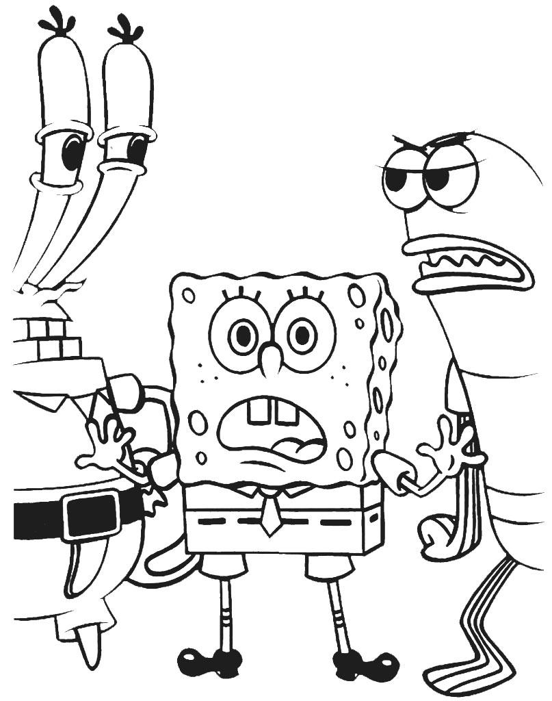 Darmowa malowanka SpongeBoB i Krab do drukowania