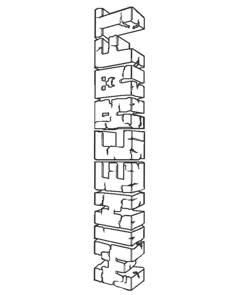 Duże logo napis Minecraft z gry do druku
