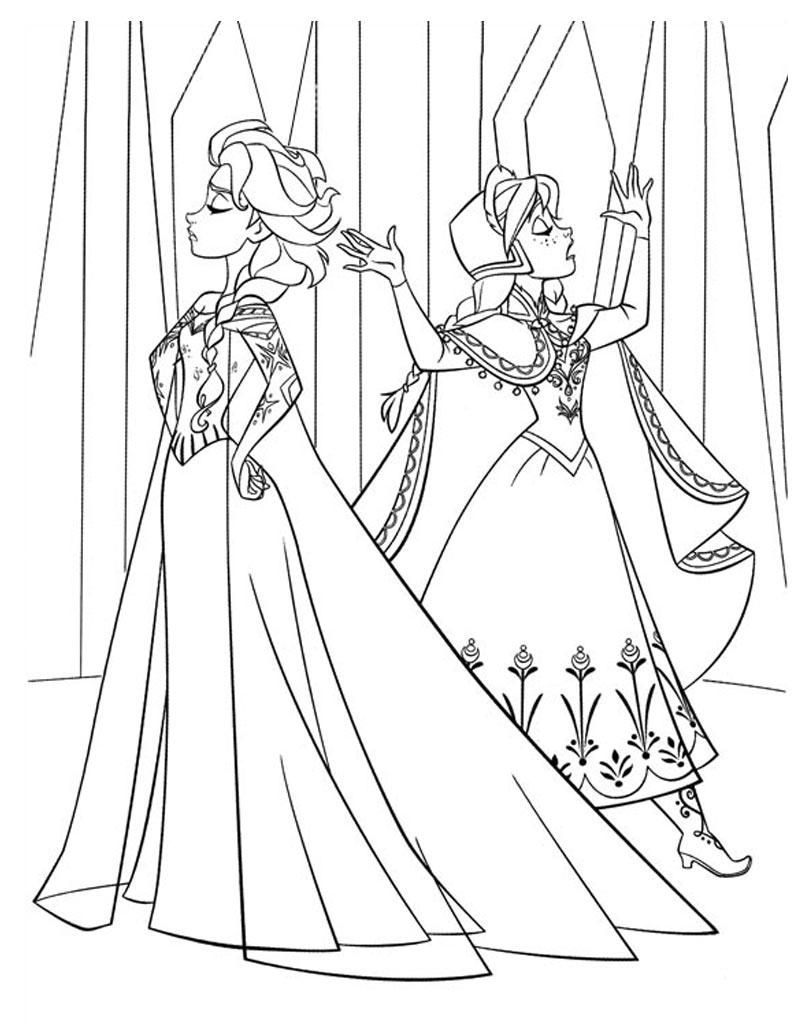 Elsa i Anna kolorowanka do wydruku