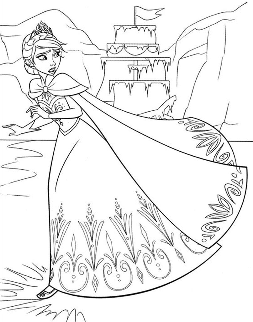 Elsa kolorowanki