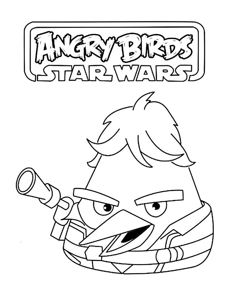 Kolorowanka Angry Birds Star Wars