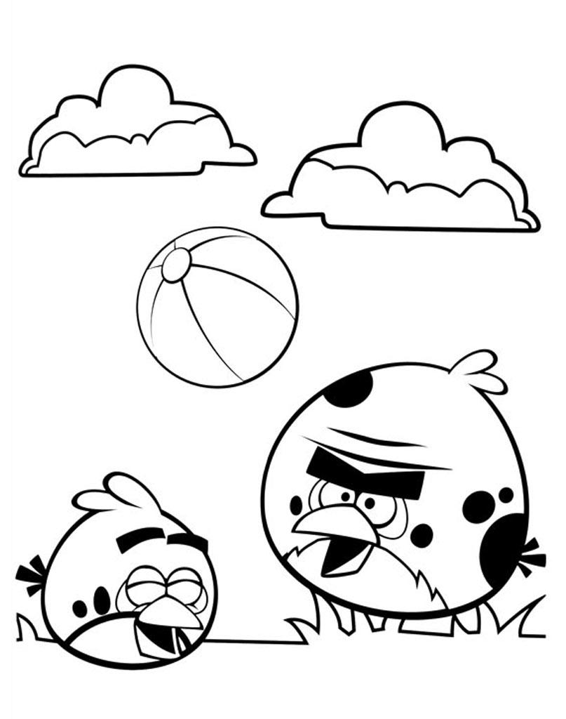 Kolorowanka Angry Birds do drukowania