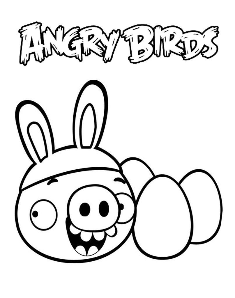 Kolorowanka Angry Birds z jajkami