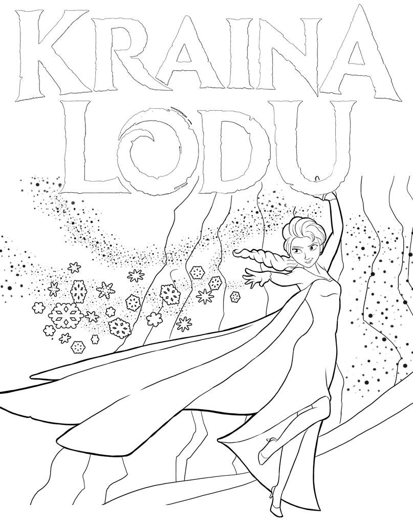 Kolorowanka Anna z Krainy Lodu do wydruku