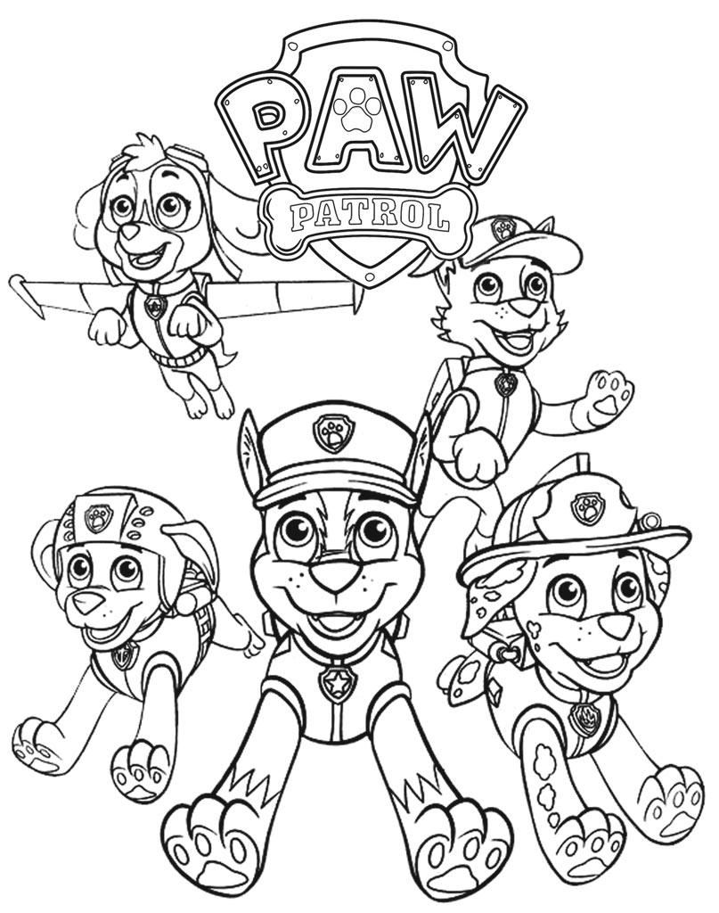 Kolorowanka Paw Patrol do malowania online