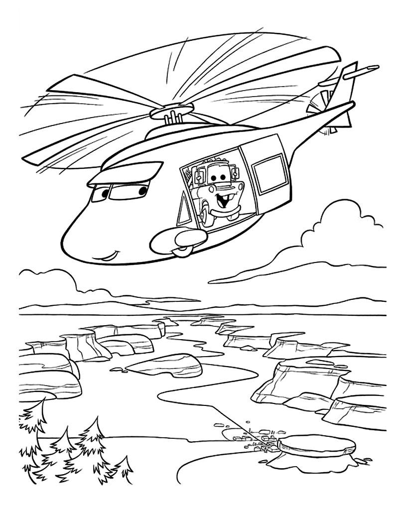 Kolorowanka dla dzieci samolot i złomek