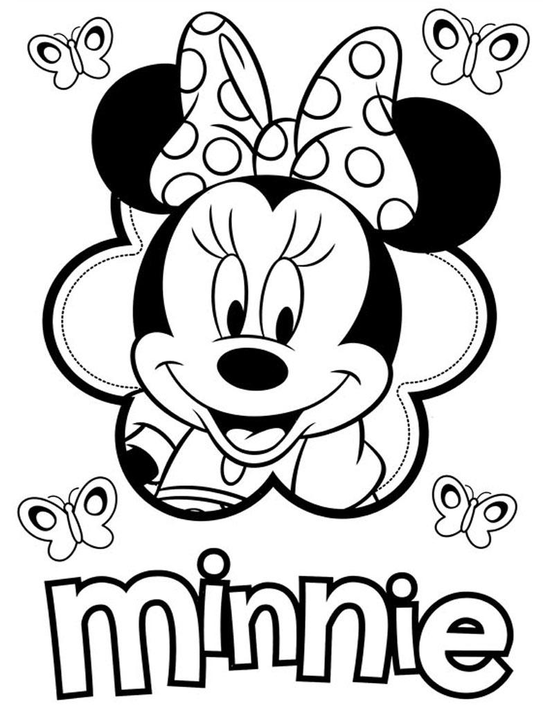 Kolorowanka Minnie do wydruku dla dzieci