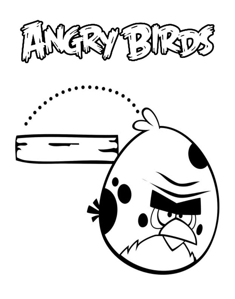 Kolorowanka skaczący ptak z Angry Birds
