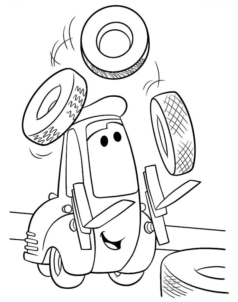 Kolorowanka wózek widłowy Łukasz Auta