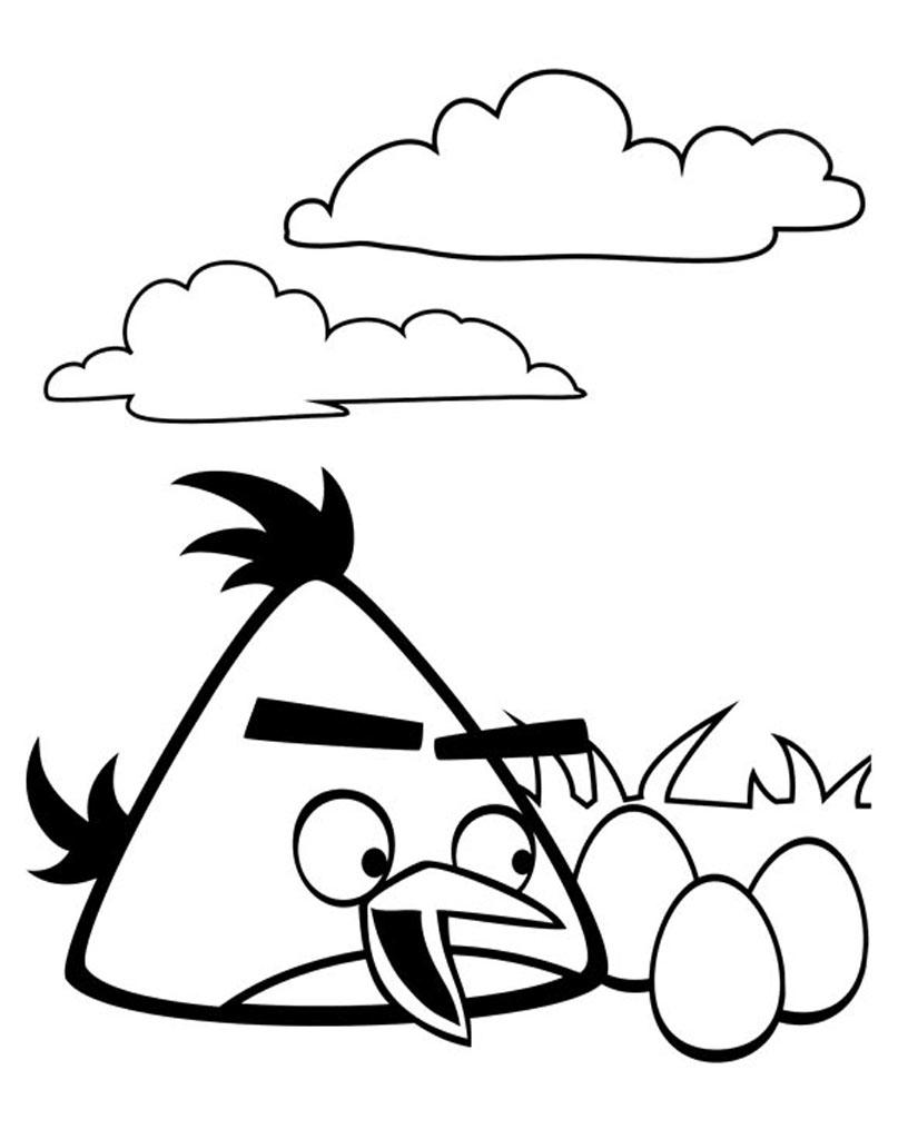 Kolorowanka z bajki Angry Birds