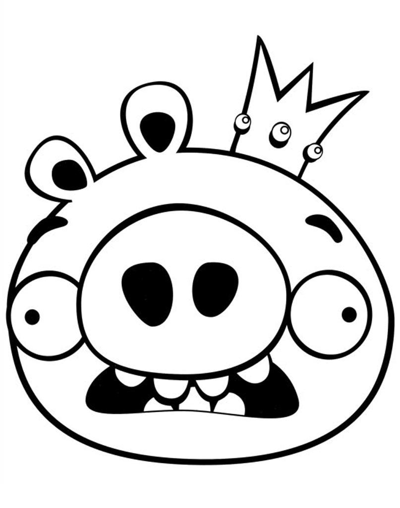 Kolorowanka z bajki Angry Birds świnka