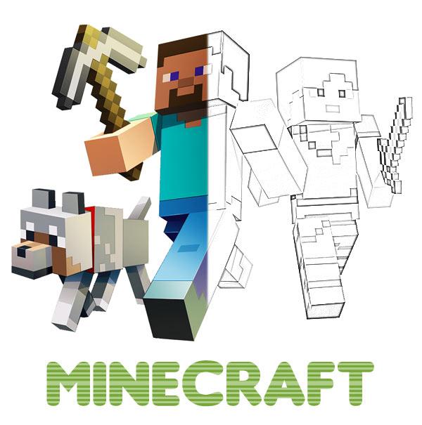Kolorowanki Minecraft