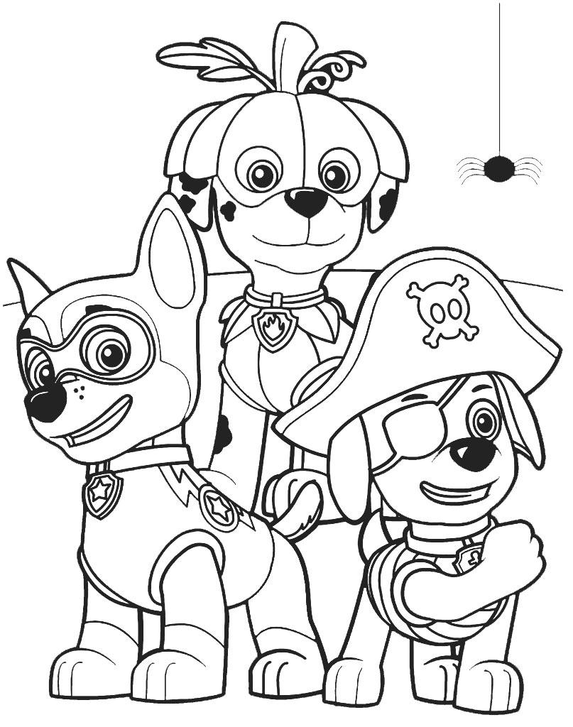 Kolorowanki Psi patrol ze szczeniakami Chase