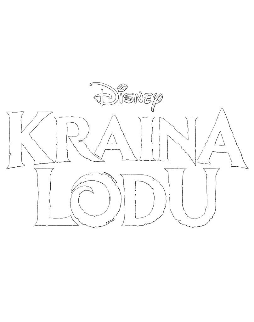 Kraina lodu logo do wydruku z bajki Frozen