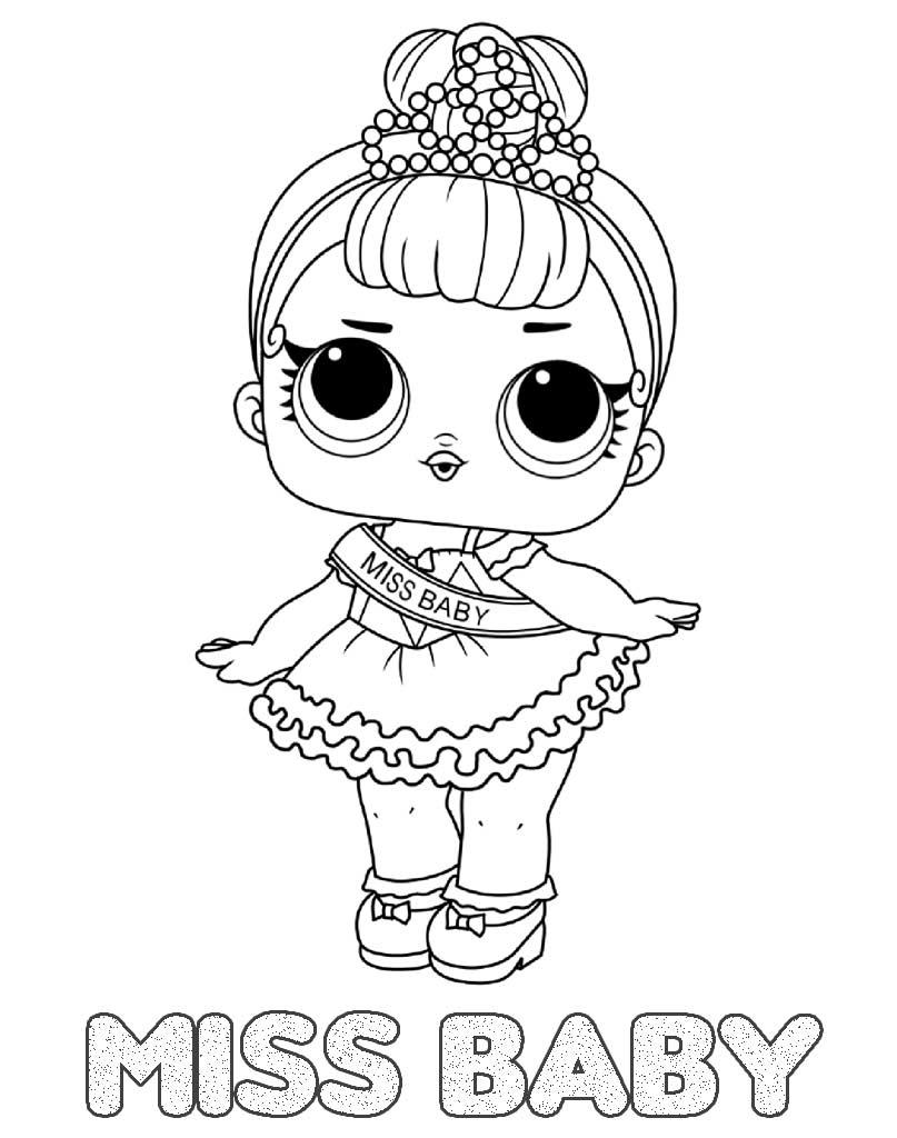 LOL Suprise kolorowanka z laleczką Miss Baby