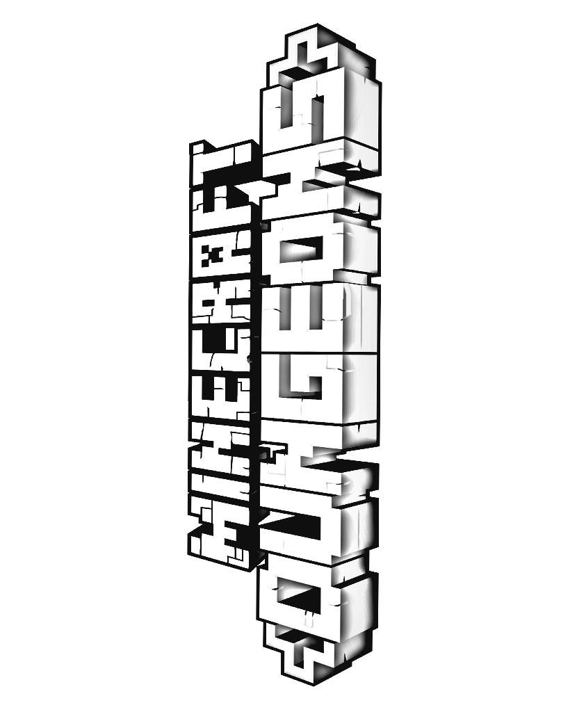 Logo z gry Minecraft Dungeons do wydruku