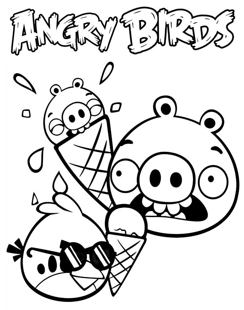 Malowanka Angry Birds dla dzieci