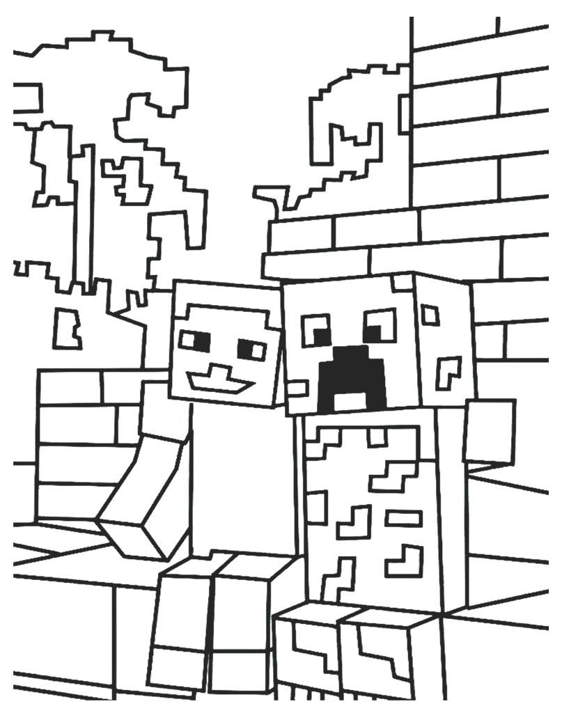 Malowanka online z gry Minecraft