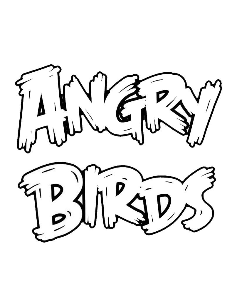 Napis logo Angry Birds do malowania
