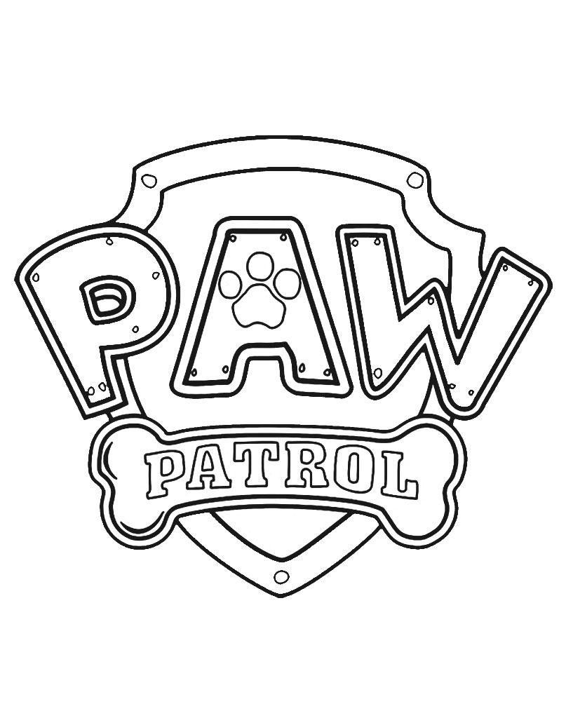 Oryginalne logo Psi Patrol kolorowanka do druku