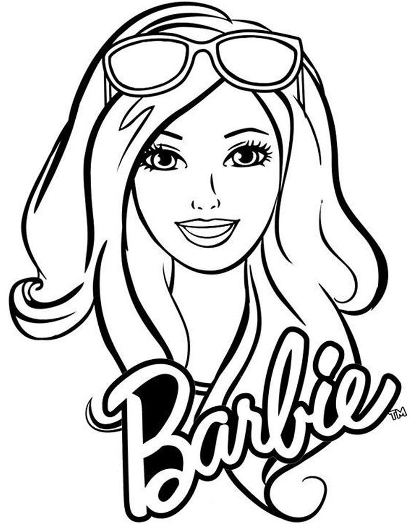 Piękna Barbie kolorowanka dla dzieci