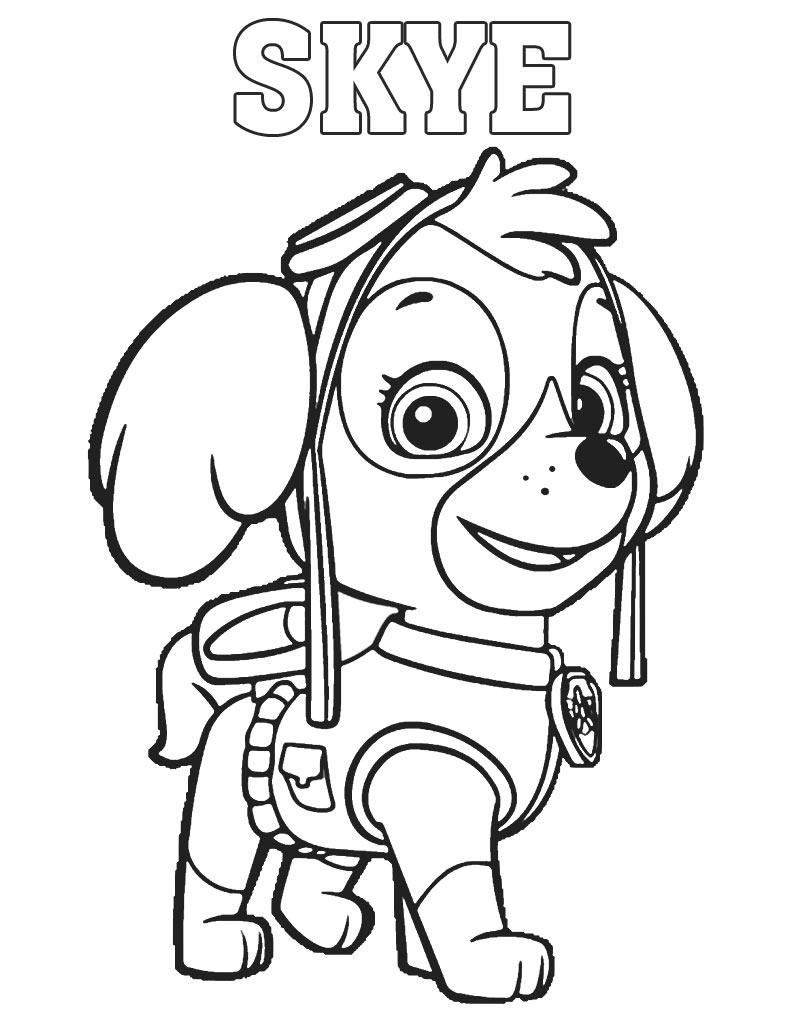 Skye kolorowanka z bajki Psi Patrol do drukowania