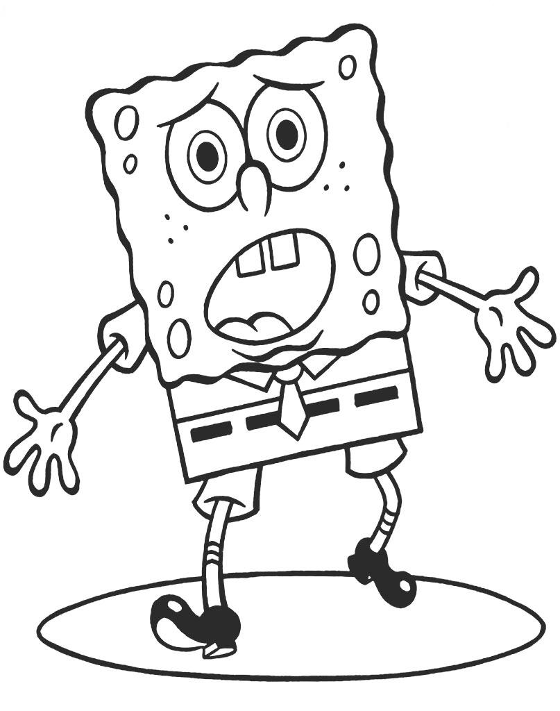 Spongebob kolorowanka do druku