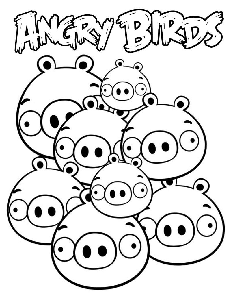 Kolorowanka świnka z Angry Birds