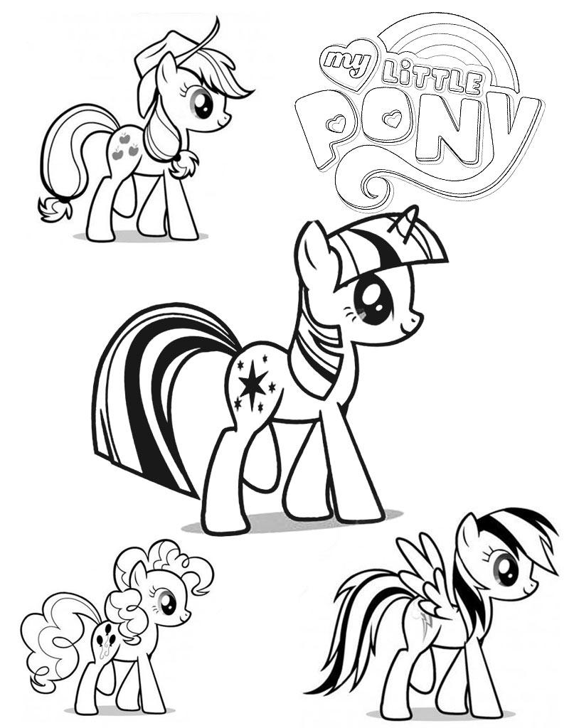 Zestaw kucyków My Little Pony kolorowanka dla dzieci