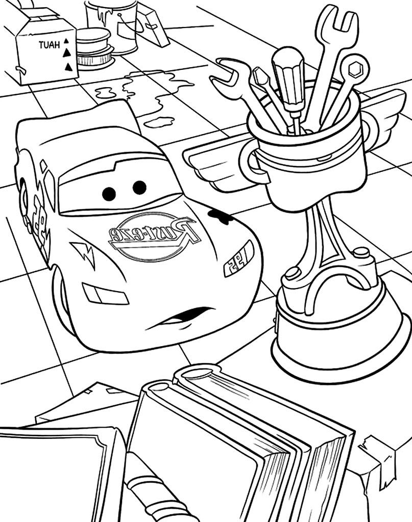 Zygzak i narzędzia malowanka dla dzieci