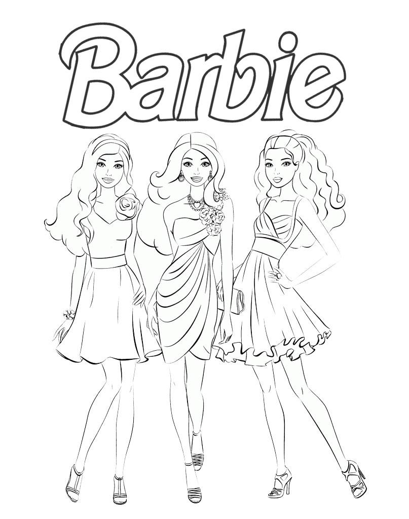 Kolorowanka dla dziewczynek z lalkami Barbie