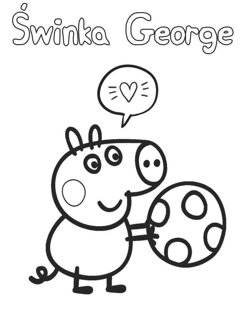 Kolorowanka dla dzieci Świnka George