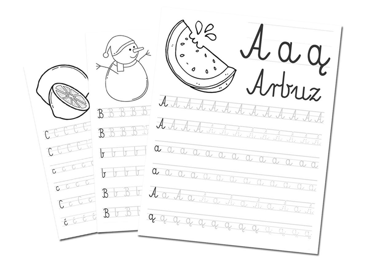 Nauka literek po śladzie dla dzieci