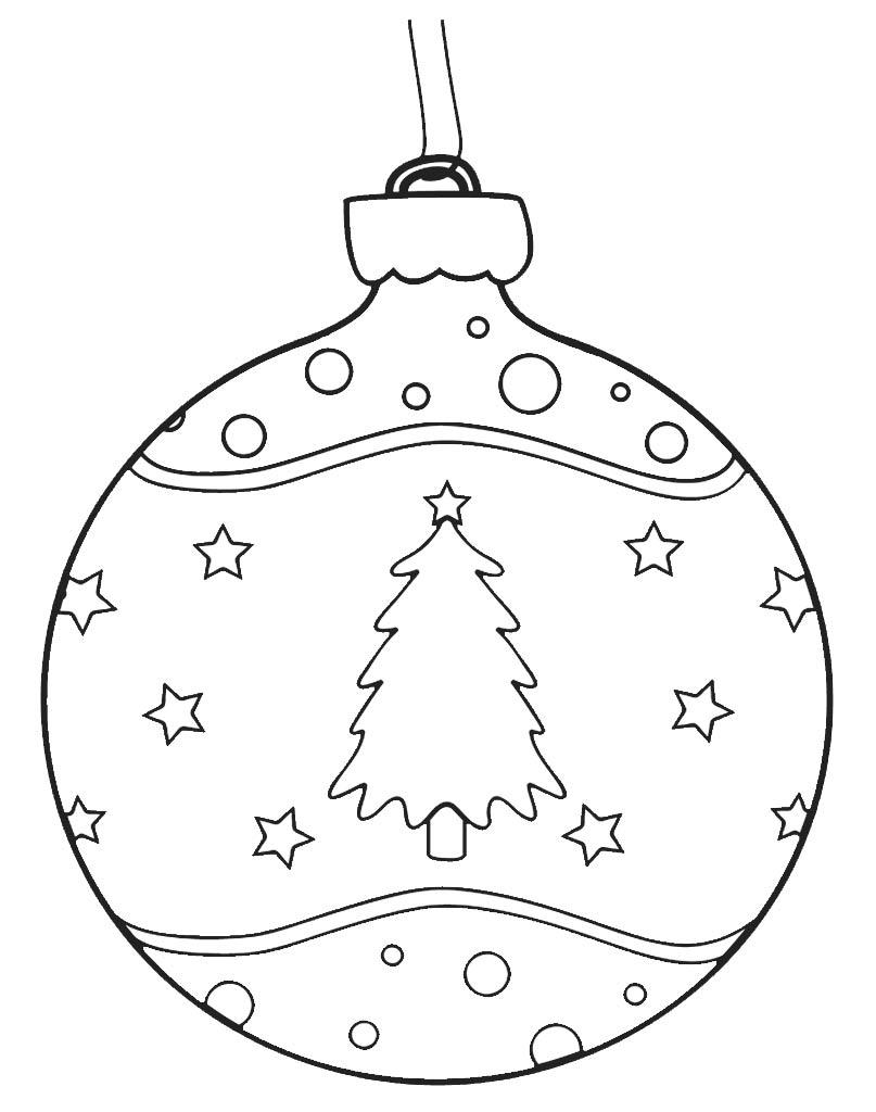 Bombka kolorowanka świąteczna