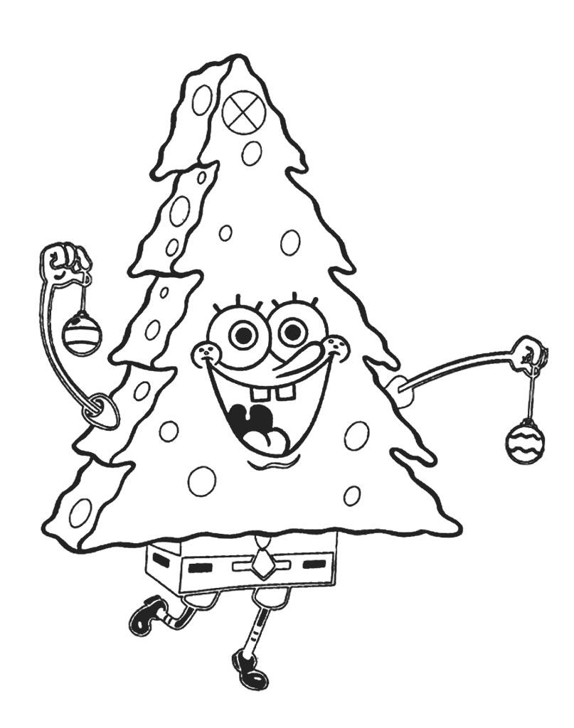 Bożonarodzeniowy SpongeBob choinka