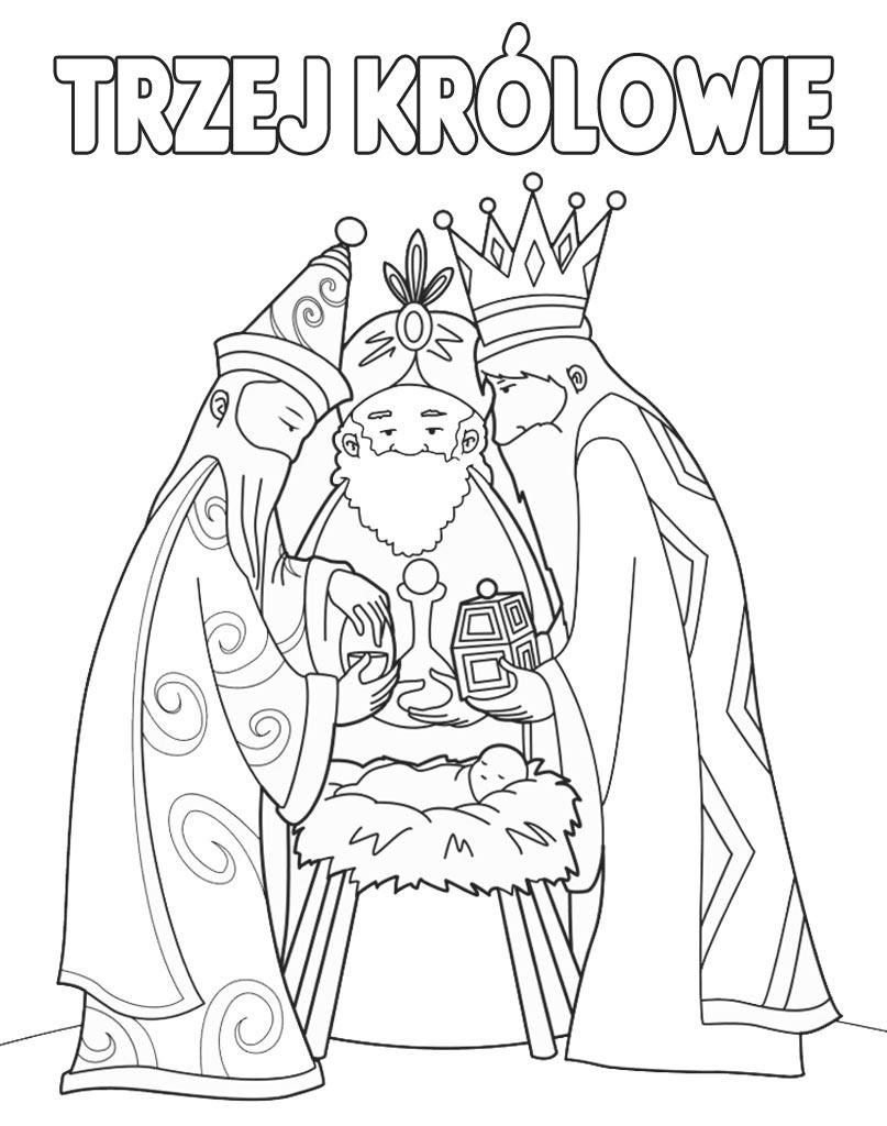Kolorowanka Trzej Królowie