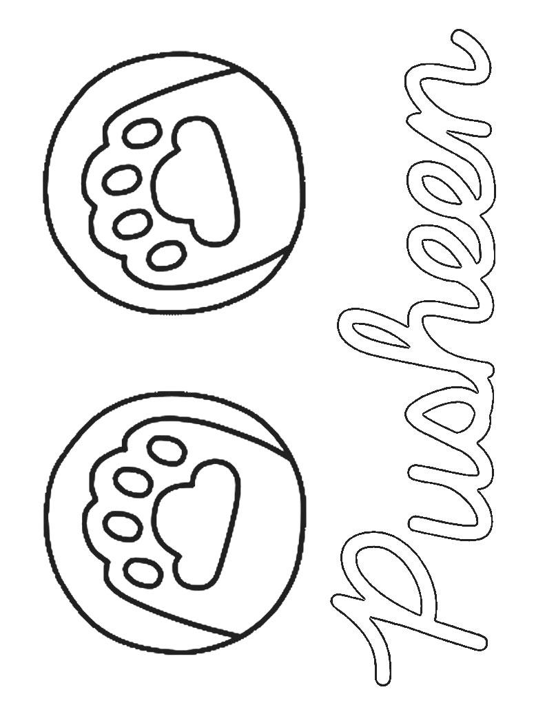 Logo kolorowanka Pusheen