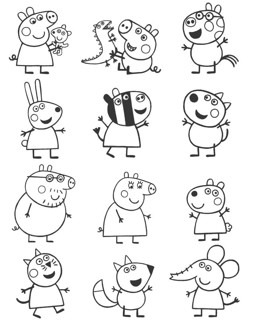 Bohaterowie kreskówki Świnka Peppa