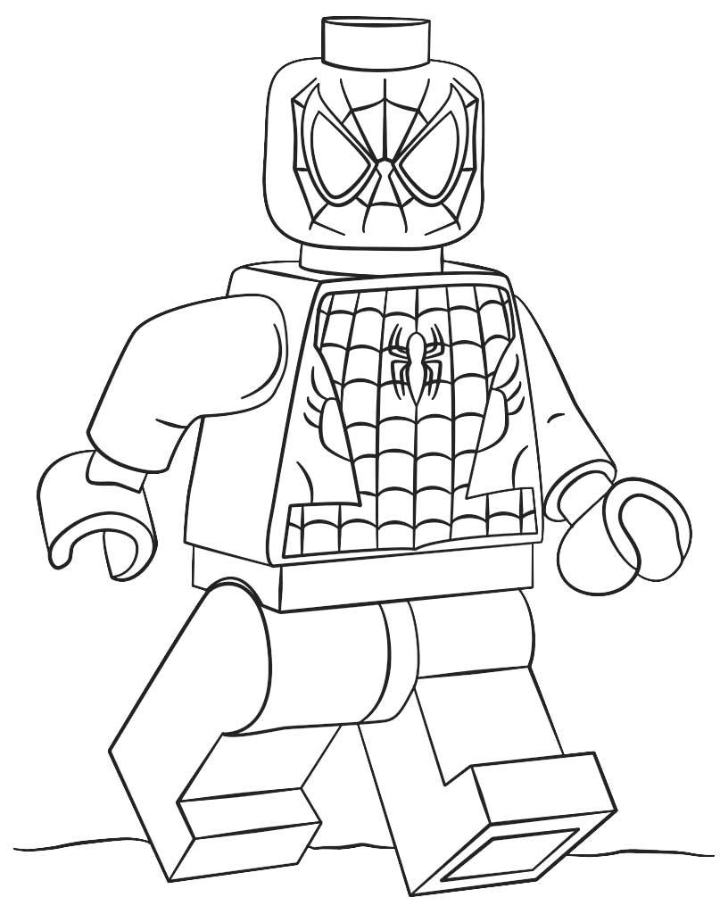Figurka kolorowanka Lego Spiderman