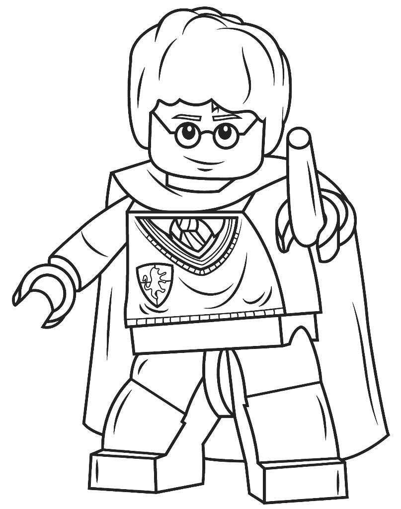 Kolorowanka Harry Potter ludzik Lego