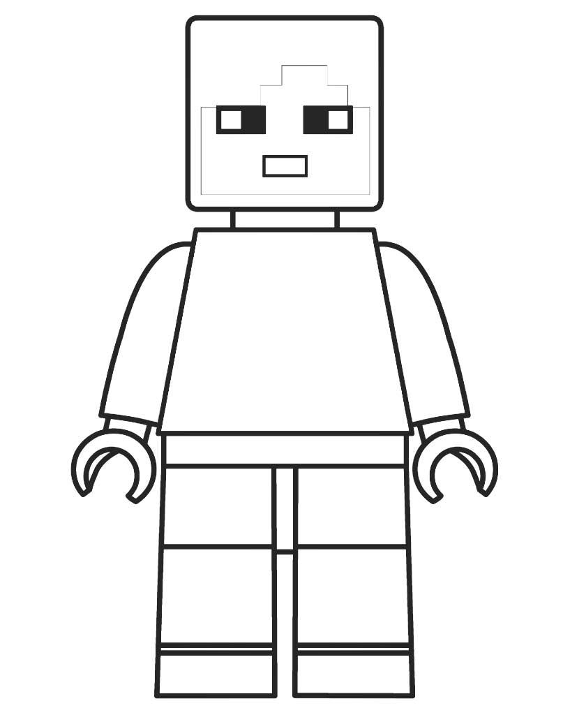 Kolorowanka Lego Minecraft do druku