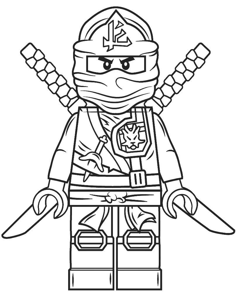 Kolorowanka Lego Ninjago Zielony Ninja