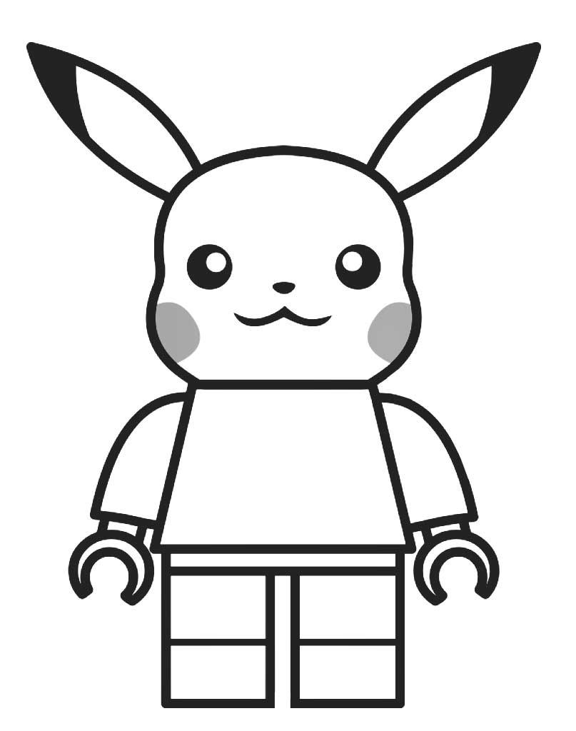 Kolorowanka Lego Pikachu Pokemon