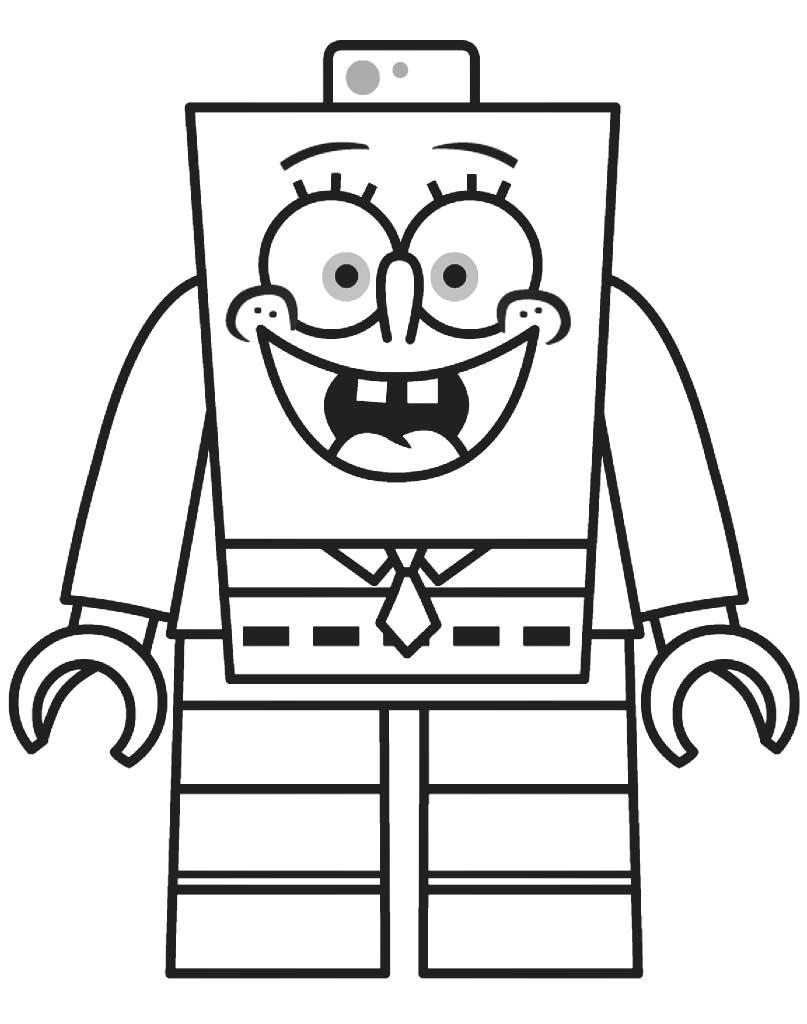 Kolorowanka Lego Spongebob dla dzieci
