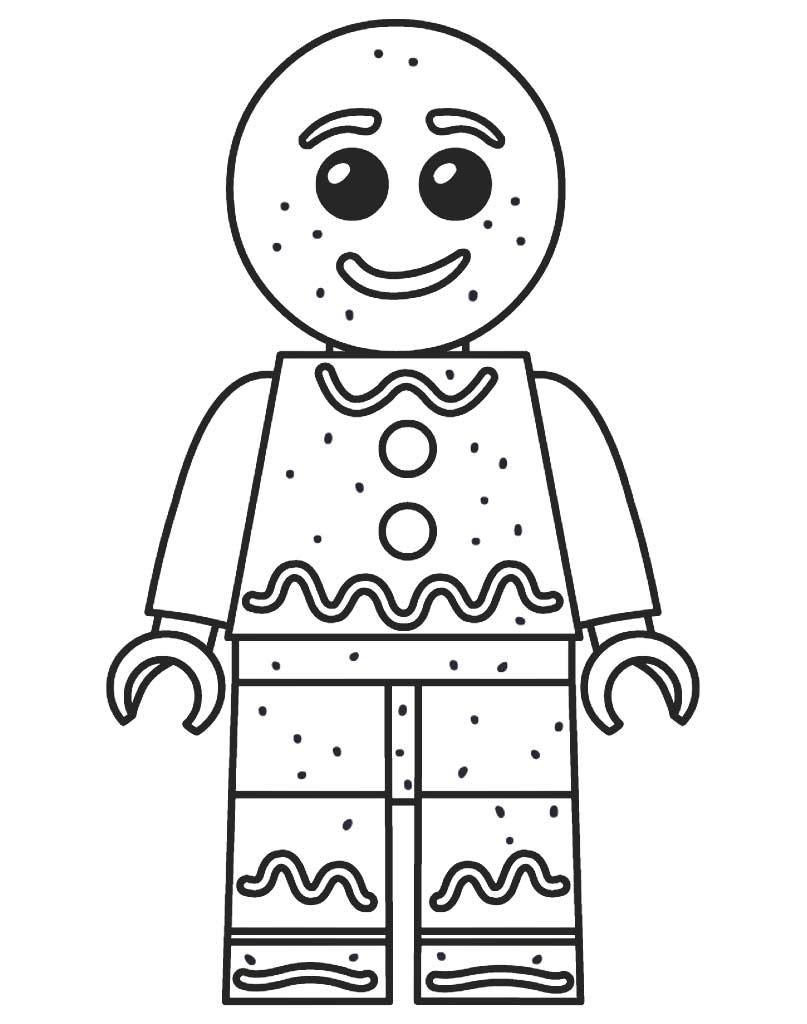Kolorowanka Lego ze świątecznym ludzikiem