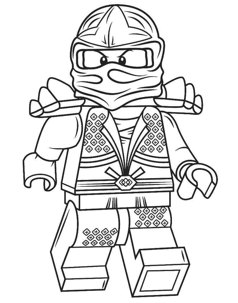 Kolorowanka Lloyd ZX Lego Ninjago do druku