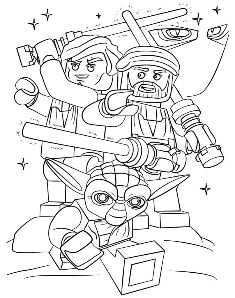 Kolorowanka Star Wars Lego do wydruku