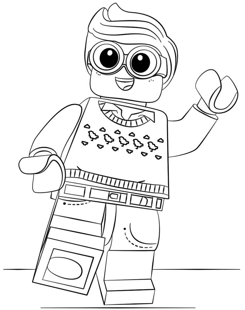 Kolorowanka z bohaterem Lego - Dick Grayson